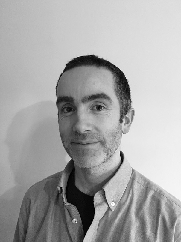 black and white portrait photo of the author